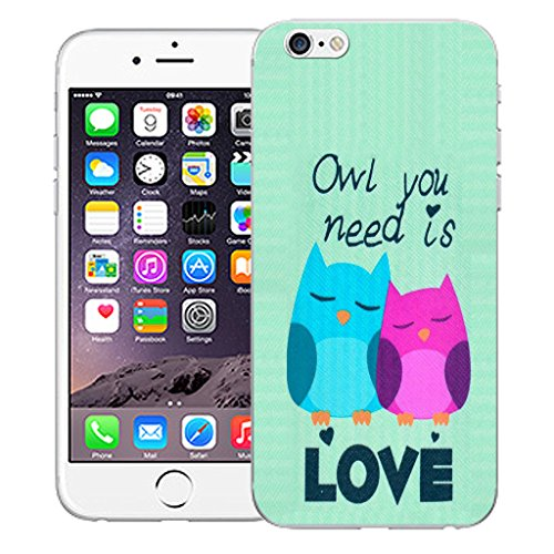 """Mobile Case Mate iPhone 6 4.7"""" Silicone Coque couverture case cover Pare-chocs + STYLET - Cute Owls pattern (SILICON)"""