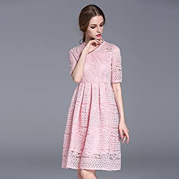 cff22fdab1fa Wanglele Dinner Dress Spring Large Size Women S Embroidery Lace Dinner Dress
