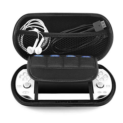 Black Hard Travel Pouch Case Carrying Bag For Sony PS Vita PSV (Psp Crystal Protective Cover)