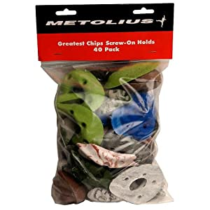 Metolius Greatest Chips Screw On Holds 40 Pack