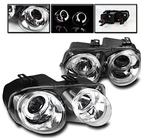 - ZMAUTOPARTS Acura Integra Dual Halo Projector Headlights Lamp JDM Clear LS RS GS