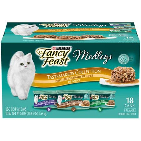 Purina Fancy Feast Medleys Tastemakers Collection Adult Wet Cat Food Variety Pack - (18) 3 oz. -