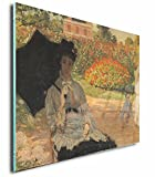 Camille Monet On A Garden Bench #2 (Monet) Acrylic Print Wall Decor Wall Art - Standoff, 36''x24''