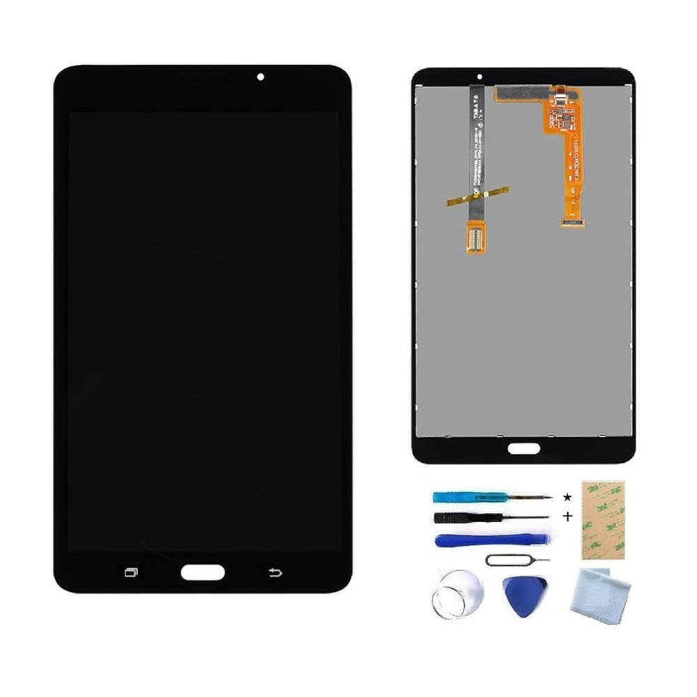 XR MARKET Compatible Samsung Galaxy SM-T280 Screen Replacement, LCD Display Touch Digitizer Assembly, for Tab A 7.0 Wifi Tablet (Not for 3G version & T285 & No Earpiece Hole) Black