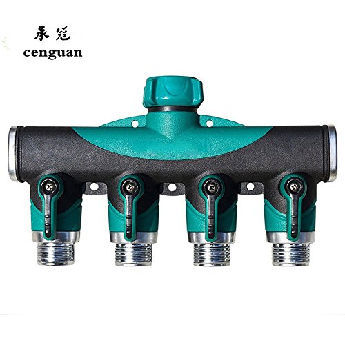 Kamas 2017 Garden Hose Pipe Splitter Plastic Drip 3/4'' Irrigation Water Connector Agricultural 4 Way Tap Connectors by Kamas