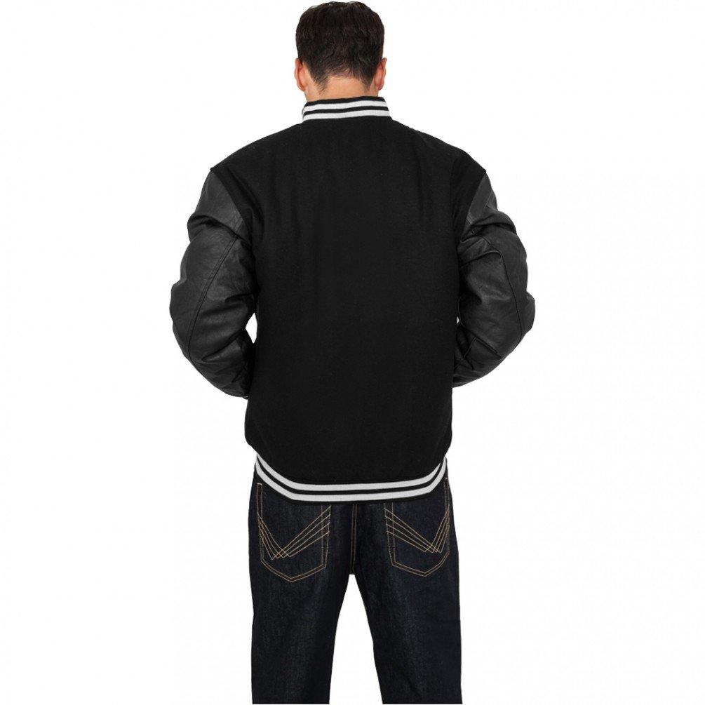 Urban Classics Half-Leather Chaquetas Universitarias Púrpura Negro: Amazon.es: Ropa y accesorios