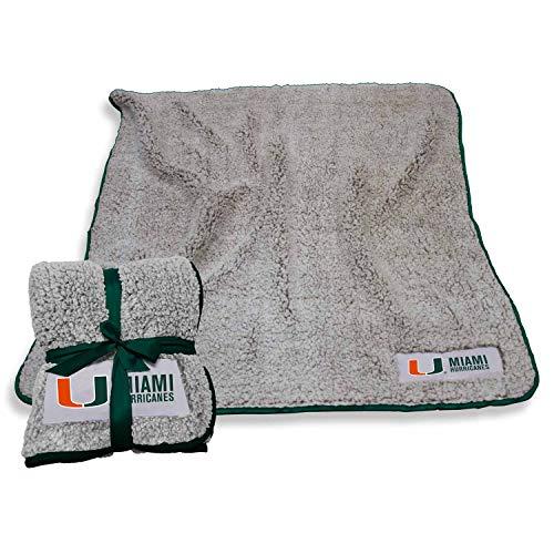 Logo Miami Hurricanes NCAA Frosty Fleece 60 X 50 Blanket - Team - Ncaa Fleece Miami Hurricanes