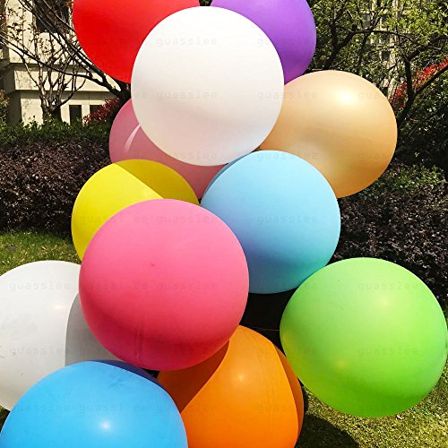 GuassLee Giant balloons 36-Inch Big Balloons - 7 Pack...