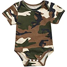 Unisex Infant Baby Girl Boys Short Sleeve Camouflage Romper Bodysuit Outfit Clothes One Piece Jumpsuit