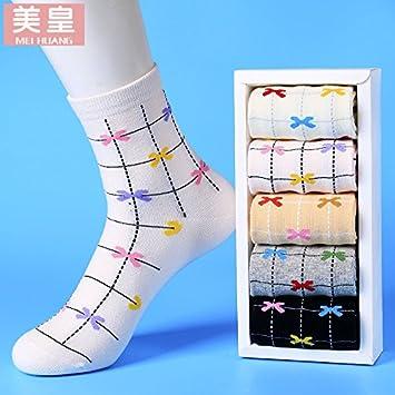 VIG Calcetines Calcetines Mujeres en la Tube Socks College Wind algodón Calcetines Otoño y Invierno Mujeres