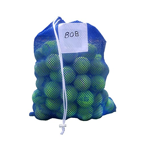 Dealzco Large Tennis Ball Mesh Bag Tote – Holds Over 100 Tennis Balls (Balls Not Included) – SINGLE BAG