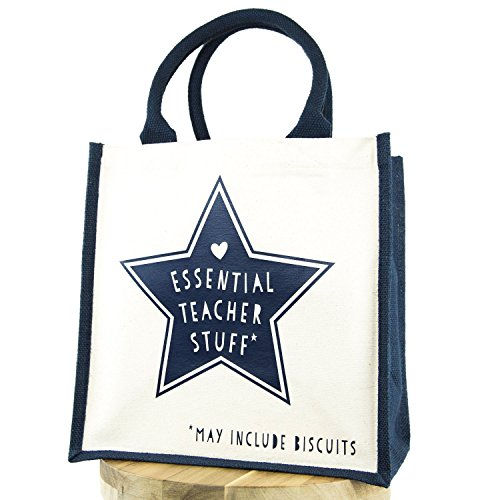 Text Navy For Gift Canvas Teacher A Bag Essential Perfect Stuff OTqvxCRwg