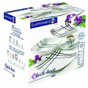 Luminarc Table Zing - Vajilla de 30 piezas