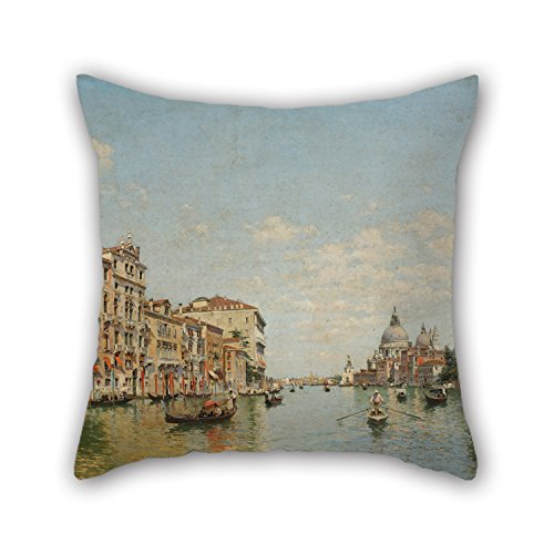 Futon Venice (Artistdecor Oil Painting Federico Del Campo - View Of The Grand Canal Of Venice Cushion Cases 16 X 16 Inches / 40 By 40 Cm For Outdoor,home Office,pub,office,valentine,home With Two Sides)