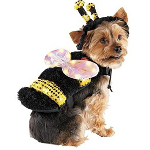 LED Bee with light up wings Pet costume - size S]()
