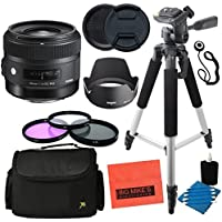 Sigma 30mm f/1.4 DC HSM Art Lens for Nikon DSLR Cameras - Advanced Kit