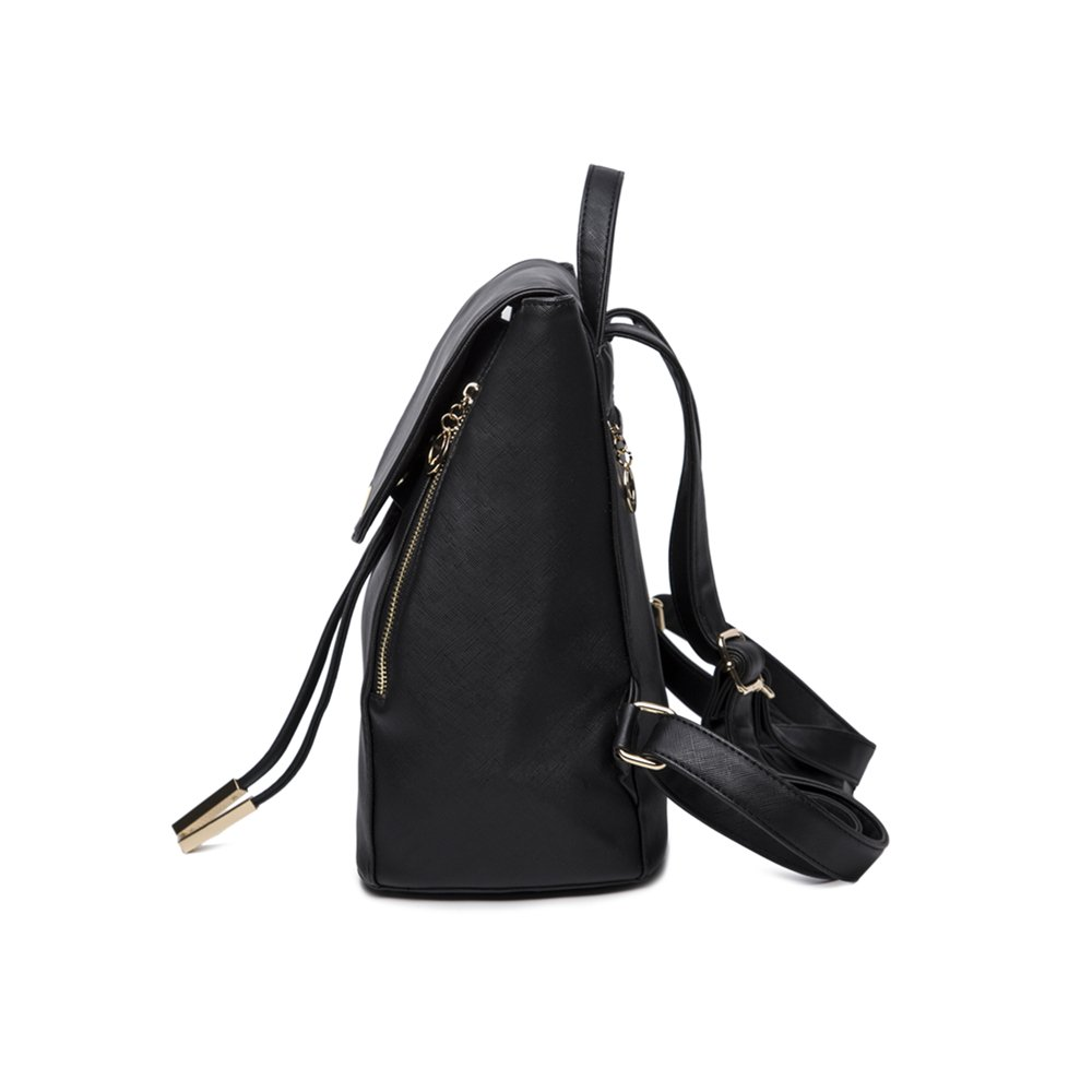 65aedbc35f73 WINK KANGAROO Fashion Shoulder Bag Rucksack PU Leather Women Girls Ladies  Backpack Travel bag (Black) - zy-Fashion Shoulder Bag01   Women s Handbags  ...