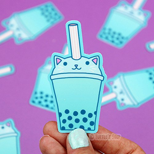 Japanese Stickers, Bubble Tea, Boba, Cat Stickers, Funny Vinyl Stickers, Scrapbooking, Kawaii Stickers, Planner Stickers, Cute Food Stickers