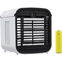 Portable Climatiseur,Personnel Refroidisseur D'air 4 En1 Mini Air Cooler, Humidificateur, Purificateur et Diffuseur d'Arômes, avec 3 Vitesses et 7 Couleurs de LED Lumière de Nuit (2019 Version)