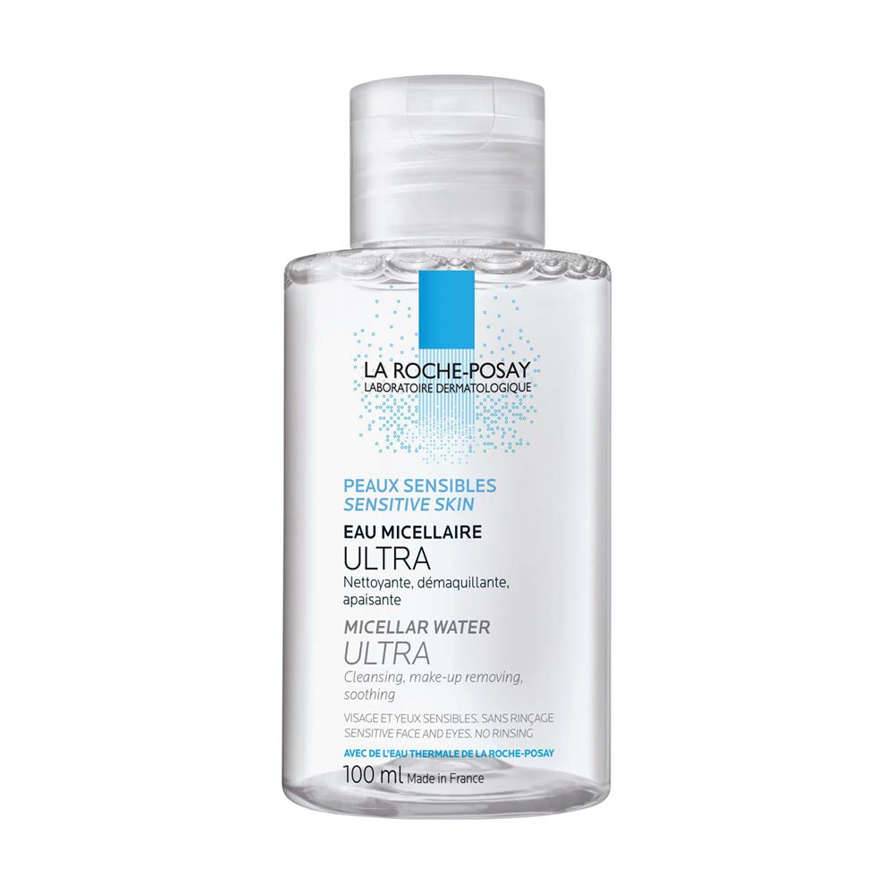 La Roche-Posay Micellar Cleansing Water and Makeup Remover for Sensitive Skin, Oil-Free