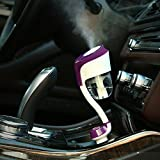 WEKSI Car Ultrasonic Air Humidifier Car Aromatherapy Essential oil Diffuser with Double USB Port Suitable for Iphone 6s/plus/5s or Other Mobile Phone,Tablet/Gps/Kindle (Purple)