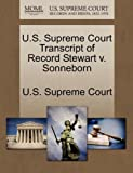 U. S. Supreme Court Transcript of Record Stewart V. Sonneborn, , 1244950416