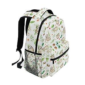 Ahomy School Backpack Book Bag for Teenager Girls Boys, Cartoon Baby Sloth Tree Travel Backpack Satchel Hiking Bag for…