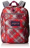 "JanSport Big Student Backpack - Coral Dusk Sideways Plaid / 17.5""H x 13""W x 10""D"