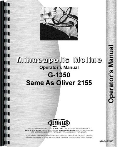 Download Minneapolis Moline G1350 Tractor Operators Manual ebook