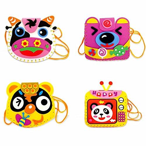 GreenSun TM EVA DIY Bags Cute Flower Style Bag Handmade Crafts Cartoon Sewing Backpacks Baby Kids Creative Funny Toys for P o Frame