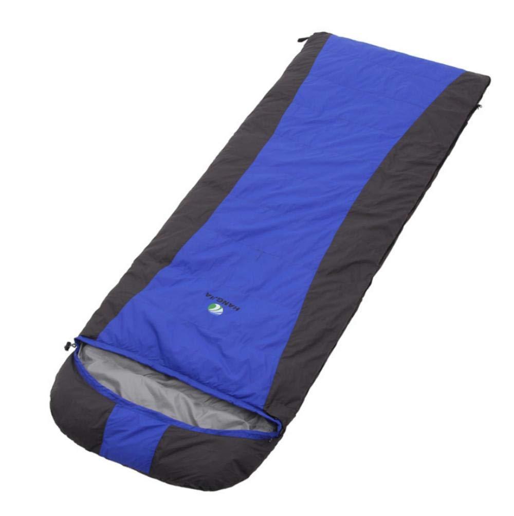 Bleu (190 + 30)  75 Leger Sac de Couchage Coton de Survie froidimpermeable Sac de couchageEnveloppe de Camping en Plein air hivernale