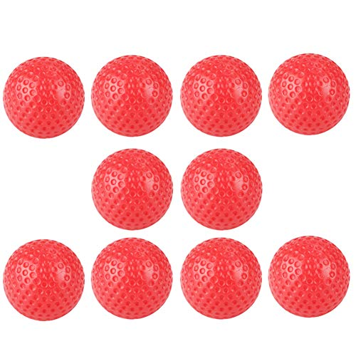 ZCON Zconmotarich 10Pcs Hollow Practice Golf Sports Gym Playing Ball Toy for Indoor Training Red