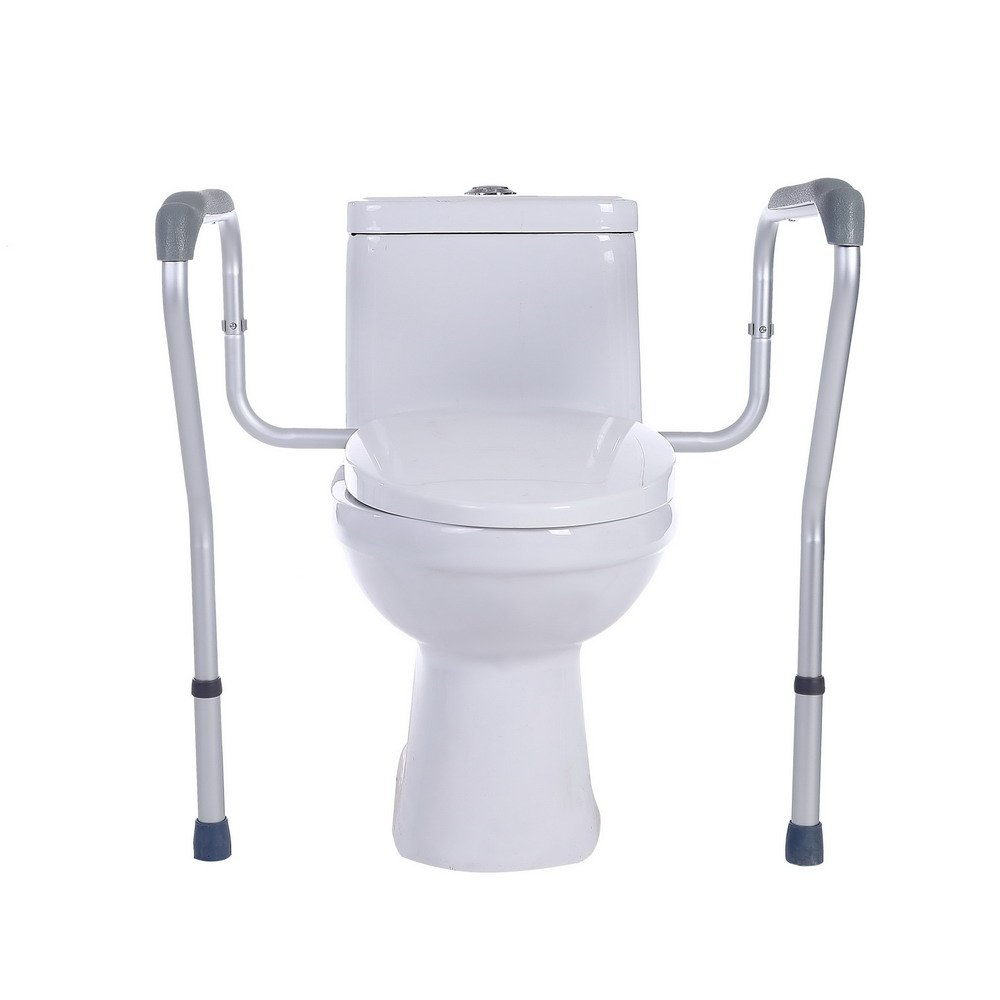 SUKONG Toilet Rail Bathroom Safety Frame for Elderly, Handicap and Disabled Toilet Safety Handrail Adjustable Height by SUKONG