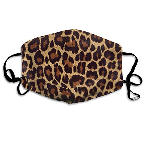 Fashion Earloop Face Mask Cool Cheetah Leopard Dental Surgical Flu Mask Germ Dust Protection Filter Face Masks for Men Women