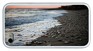 Hipster rugged iPhone 4S covers stony beach TPU White for Apple iPhone 4/4S