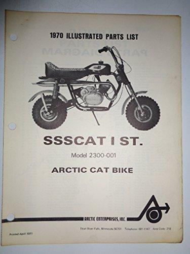 (1970 Arctic Cat SSSCAT I ST Bike (Model 2300-001) Parts List Book Catalog Manual 4/71)
