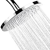 JiePai Ultra-Luxury 8 Inch Rainfall Round Shower Head,Water Restrictor Solid Round Showerhead For the Best Relaxation and Spa,Premium Chrome