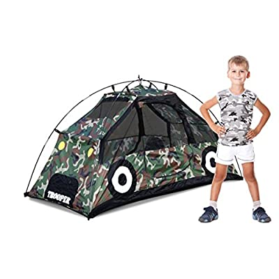 GigaTent Camouflage 2 Doors MUV Polyester Car Playhouse Includes Carry Case: Toys & Games