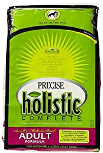 Precise 726321 Holistic Complete Small/Medium Breed Adult Dog Food, 15-Pound