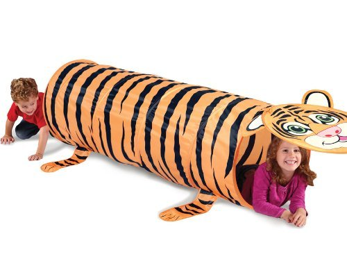 Kids Play Indoor/outdoor Tiger Design Tunnel Tent by Always Under