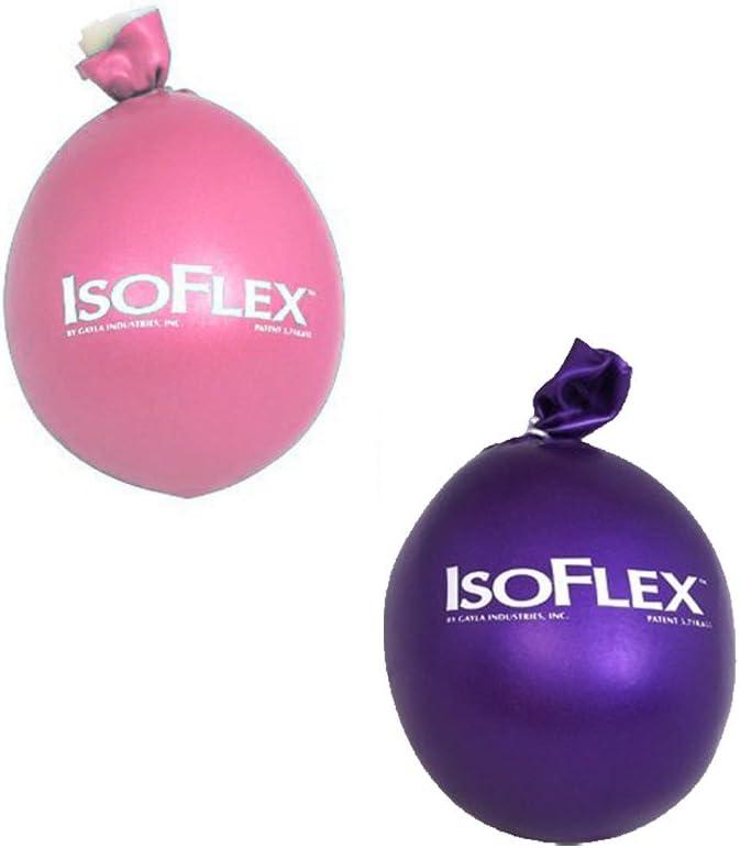 Isoflex rosa y morado juego de 2 masajeadores de estrés pelota ...