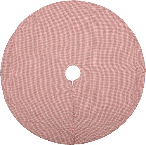 Piper Classics Farmhouse Red Stripe Tree Skirt, 48'' Diameter, Country Farmhouse Christmas and Holiday Seasonal Decor by Piper Classics (Image #2)