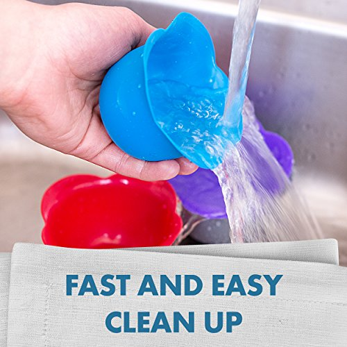 Silicone Egg - Perfection or - of 4 for Release and Cleaning - Microwave, Top Dishwasher Safe
