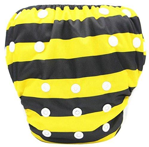 security Baby Summer Snap Reusable Absorbent Swimsuit Diaper UPF 50+ Sun...