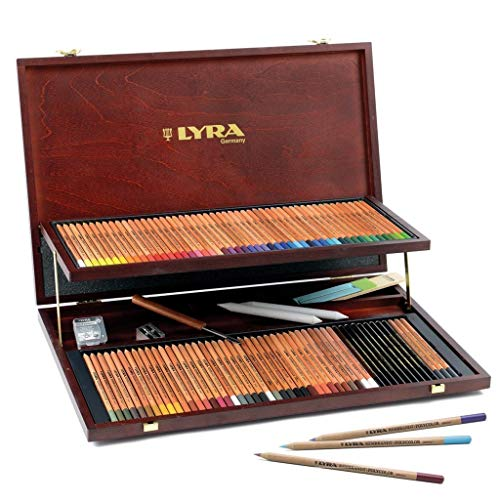 LYRA Rembrandt Polycolor Art Pencils, Set of 100 Pencils Plus Accessories, Assorted Colors (2004200) ()