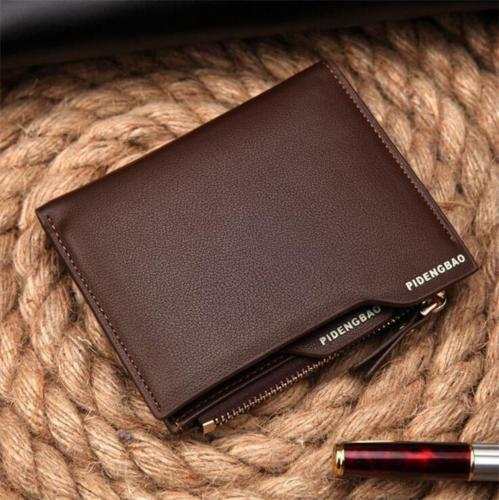 Shalleen (brown) Bifold Genuine Leather Card holder Mens Coin slim Wallet Money Clip purse men