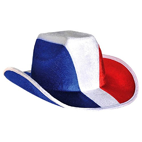 Amscan Cowboy Hat, Party Accessory, Red, White And Blue -