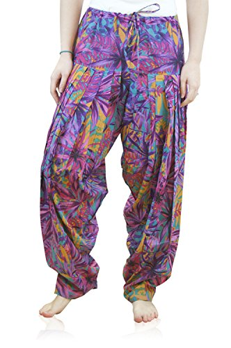 Indian Clothing Women's Full Length Patiala and Dancer Pants Printed; Large; Purple by Shristi