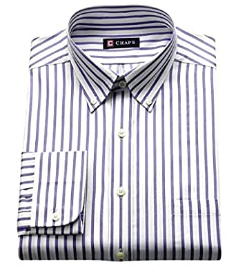 Chaps mens classic fit button down collar dress shirt for Chaps mens dress shirts