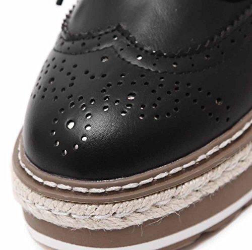 College Allacciare Black Scarpone Britannico Ballerine Autunno Stile Piattaforma Scarpe Donne Bq6Rvx